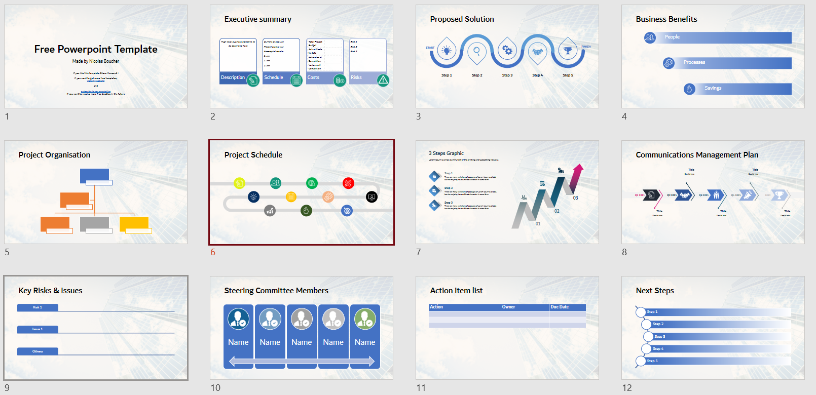 Free Powerpoint Template To Help You Make Presentations More Professional Nicolas Boucher